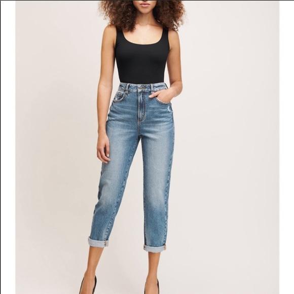 Ultra high rise boyfriend jeans